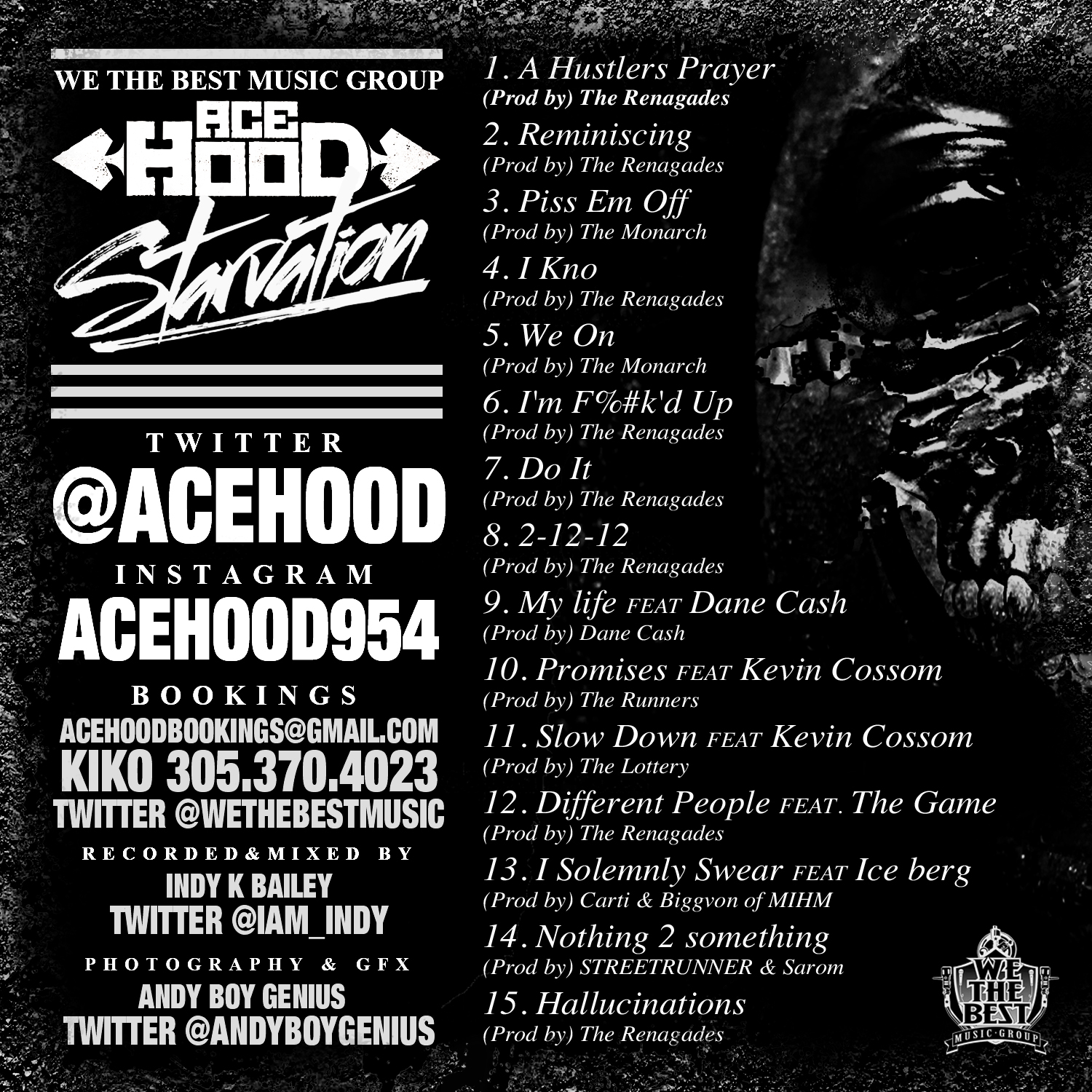 Tracklist revealed for ace hood 39 s starvation for House music tracklist